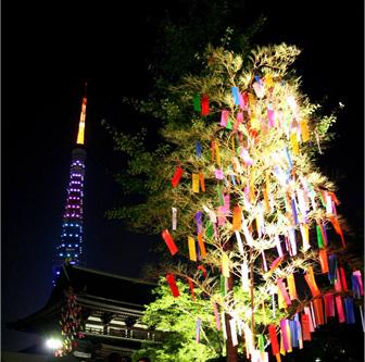 増上寺七夕祭りの様子