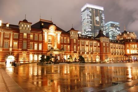 東京駅舎リフレクション写真